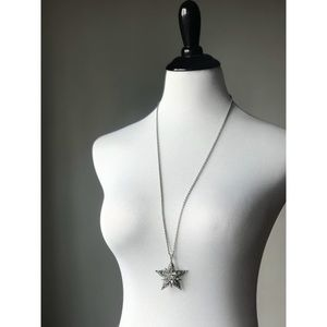 Ann Taylor Silver Star Necklace